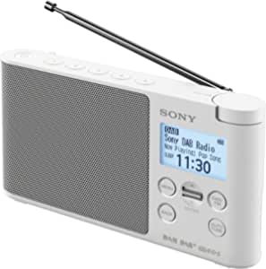 Sony XDR-S41D Portable DAB/DAB+ Wireless Radio with LCD Display - White