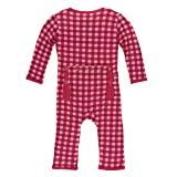 Kickee Pants Little Girls Print Coverall With Snaps