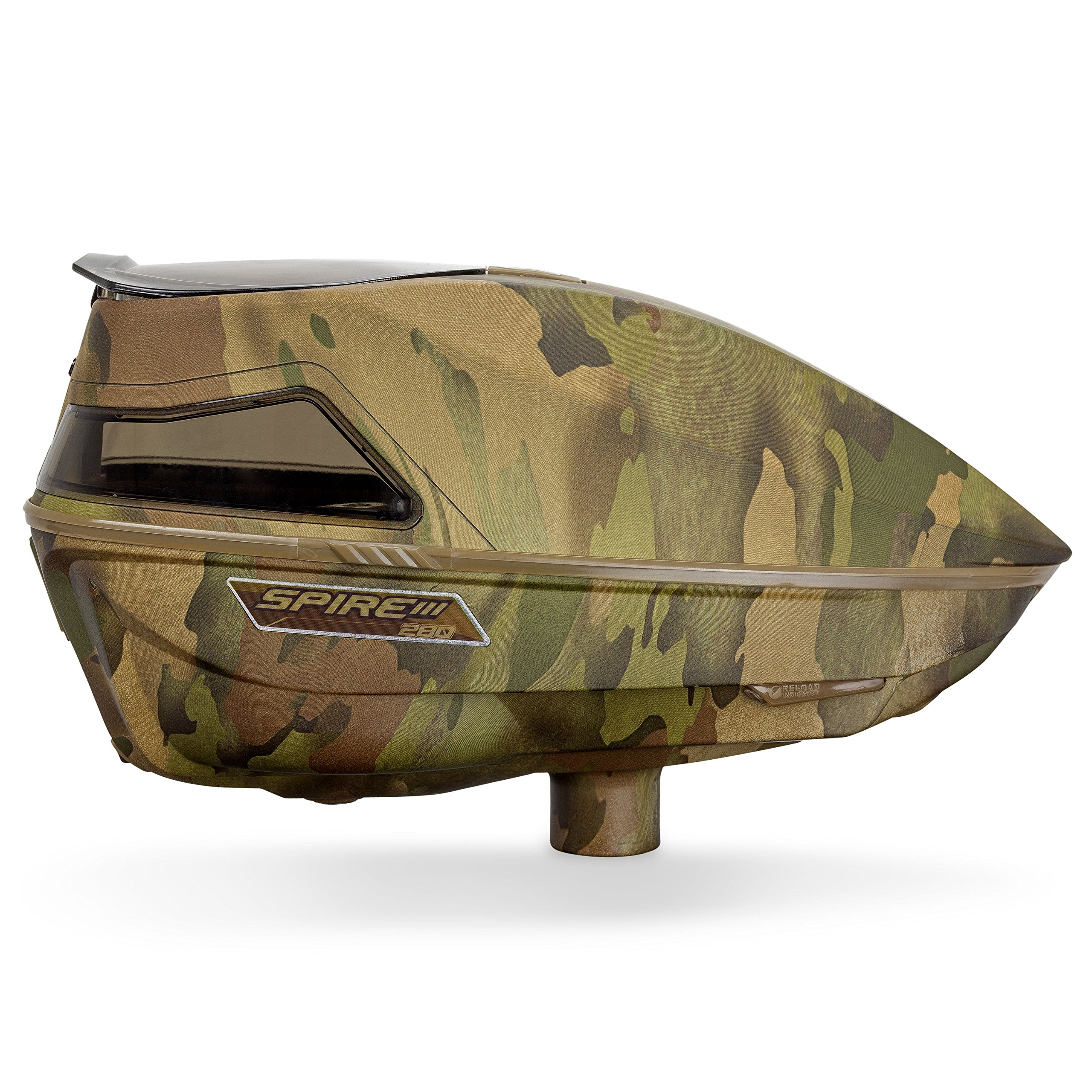 Virtue Spire III Electronic Paintball Loaders/Hoppers (280 Reality Brush Camo, Spire III 280) by Virtue Paintball