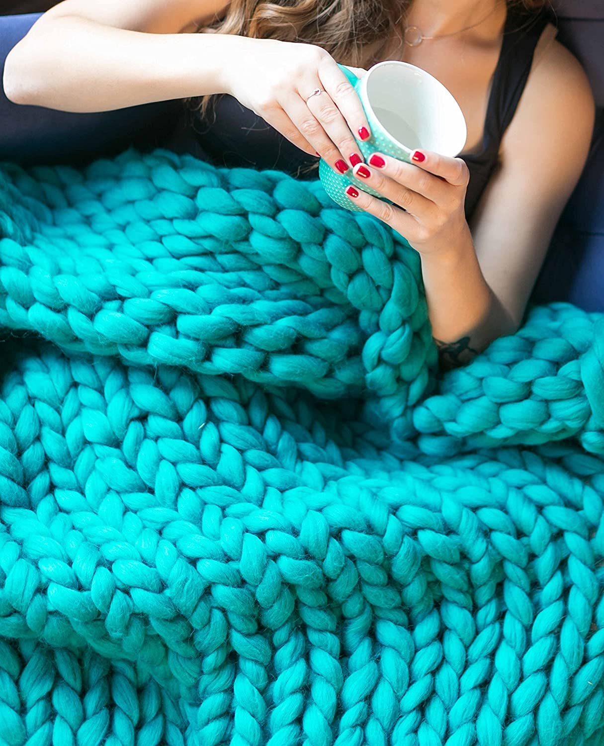 Chunky blanket Throw Gift for Her Gift for Home Chunky Knit Blanket Lap Blanket Wool Giant Blanket Chunky Knitting Giant afghan