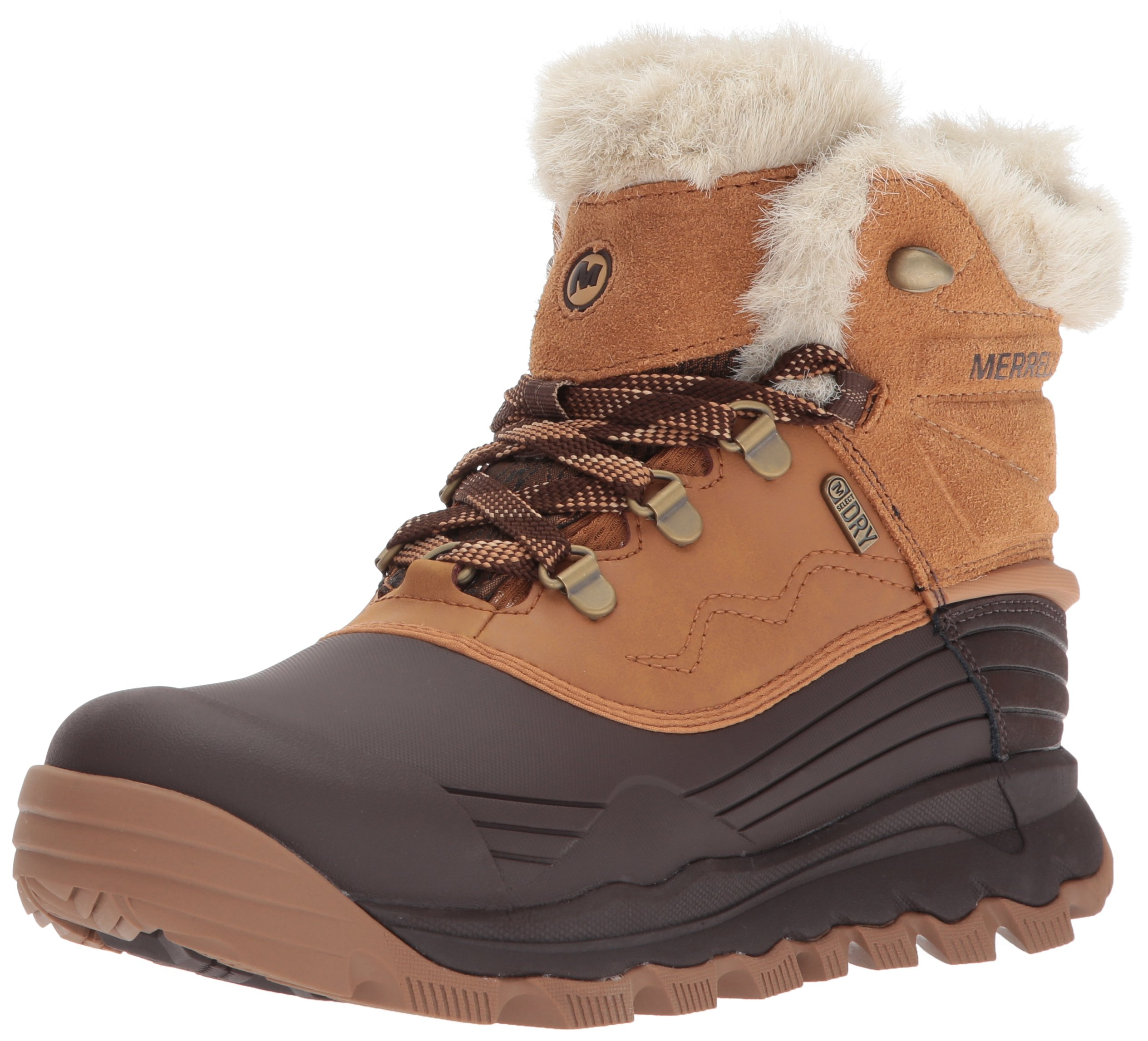 Merrell Women's Thermo Vortex 6'' Waterproof Snow Boot, Tan, 9 M US