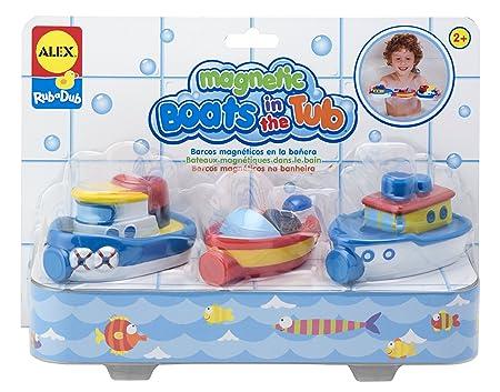 Alex - Pack de 3 Barcos magnéticos en la bañera (Janod 823W)