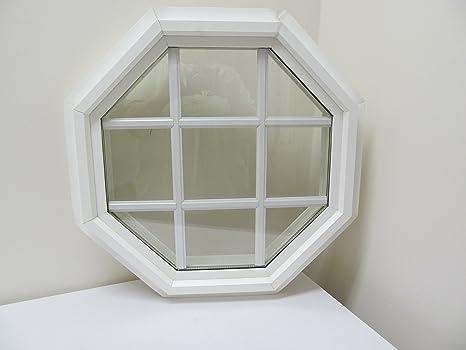 """Octagon ventana doble Panel 18 """"aislante PVC marco con ..."""