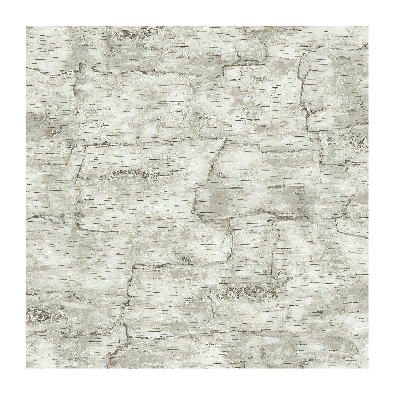 York Wallcoverings LM7987 Lake Forest Lodge Birch Bark Wallpaper