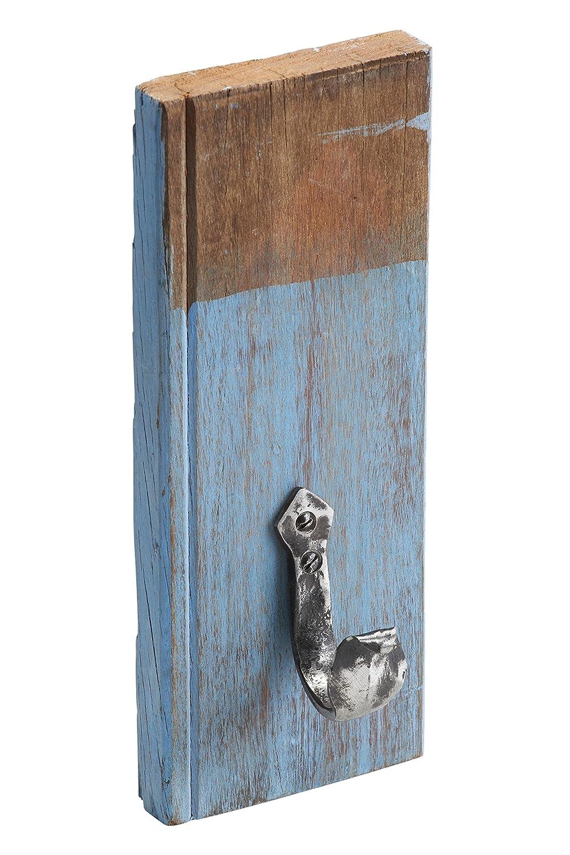 Metafranc Vintage Wandhaken, 255 x 105 mm - Recyceltes Naturholz - rot - 1 Haken - Vintage-Stil - Used-Look / Haken / Garderobenhaken / Mantelhaken / Handtuchhaken / Universalhaken / 261827 Meister