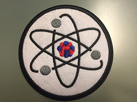 "Atom física atómica modelos parche – embroideed 3 "" – Parche de hierro sobre ciencia. Pasa ..."