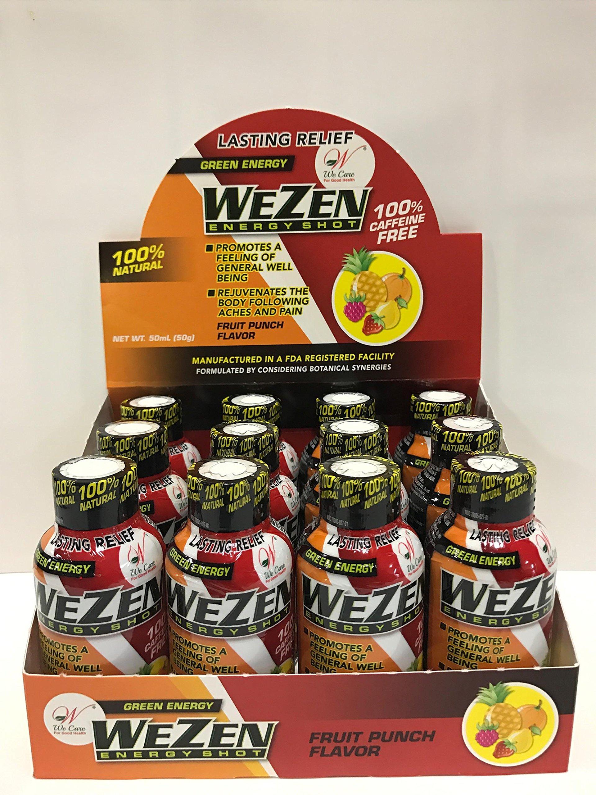 WeZen Energy Shots - Fruit Punch - 12pk
