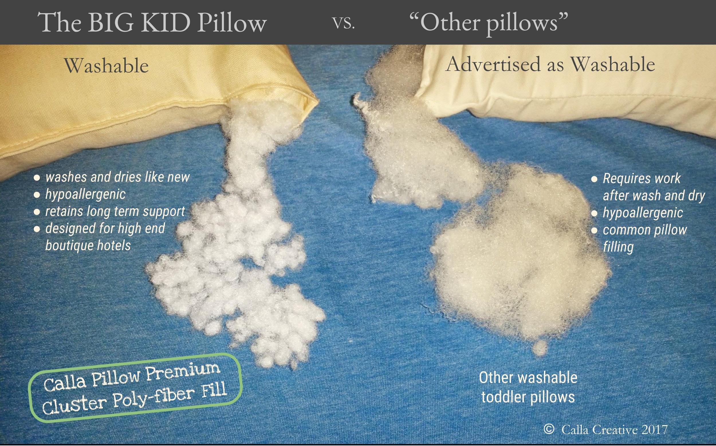 Calla Toddler Pillow Soft Organic Cotton of size 13'' x 18'' x 3.5'' by Calla Creative (Image #2)