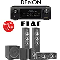 Elac F6.2 Debut 2.0 5.1-Ch Home Theater Speaker System with Denon AVR-X4400H 9.2-Channel 4K Network A/V Receiver