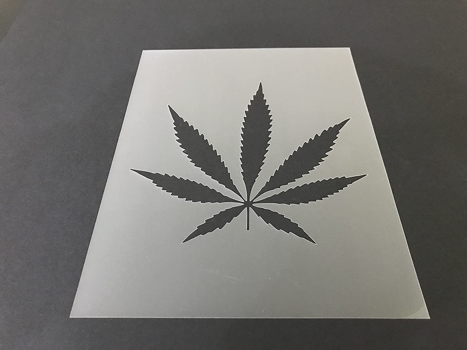 Pot leaf Marijuana Weed Cannabis Stencil #1 Reusable 10 mil Thick 7in x 9in sheet