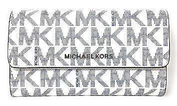 Michael Kors Geldbörse, weiß, 18x10x2 cm, Echtes Leder, Jet