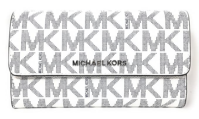 a620e287b260 ... sale michael kors jet set travel large trifold wallet navy white 2650e  00954