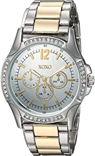 XOXO Womens Quartz Metal and Alloy Casual Watch, Color:Two Tone (Model: