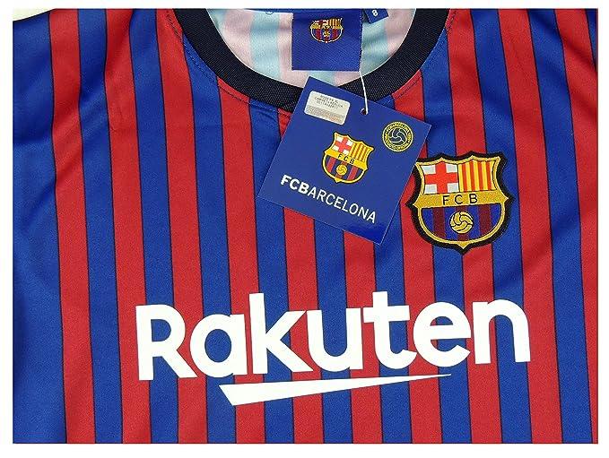 34f6e0b2d2 Barcelona Camiseta Réplica Infantil Primera Equipación 2018 2019 - Dorsal  Messi 10 - Producto Bajo Licencia  Amazon.es  Deportes y aire libre