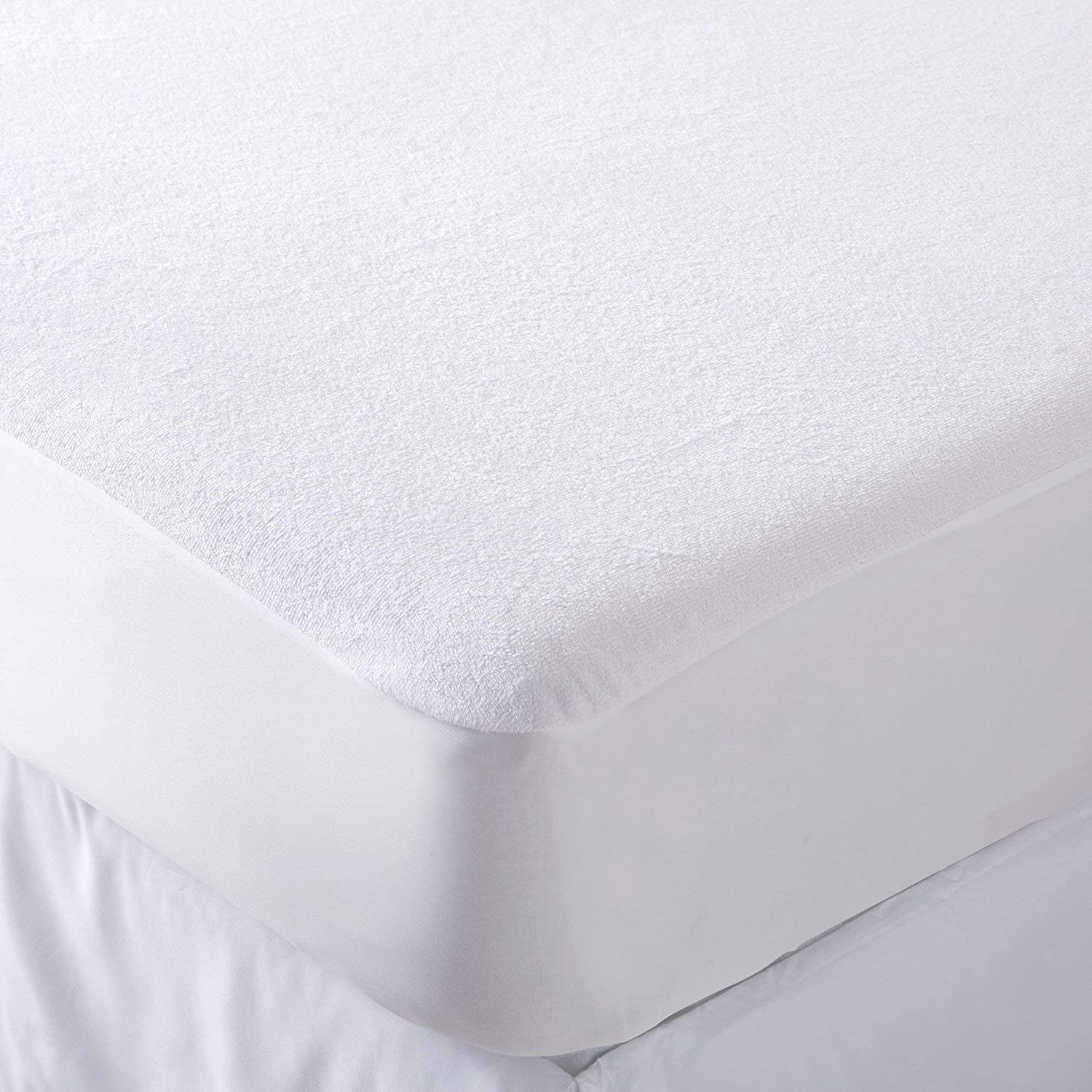 Jasmin Elinor Hotel Quality Terry Towelling Waterproof Mattress Protector Cover Fitted Fabric Skirt Moses Basket Size 35x75cm