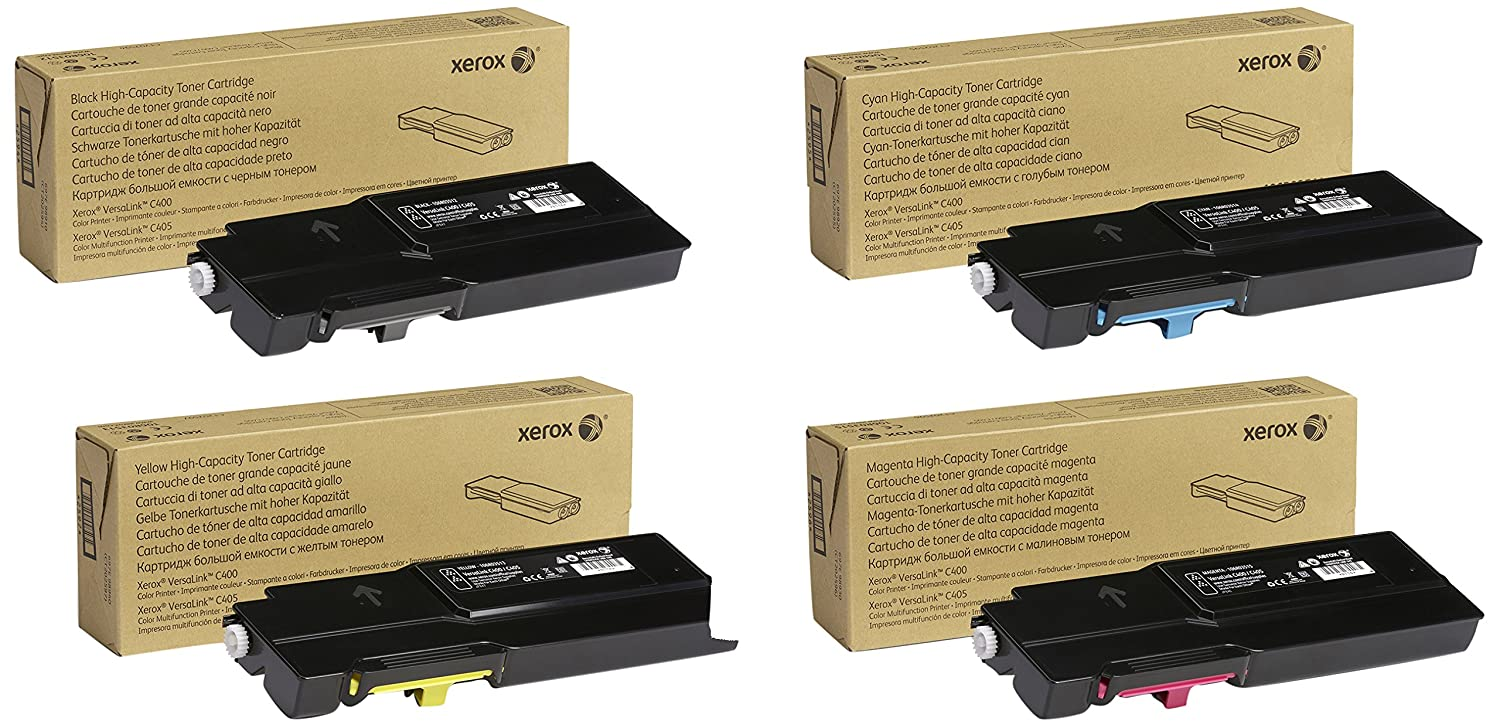 Xerox 106R03512, 106R03513 Genuine High Yield Toner Multi-Pack Black Cyan Magenta Yellow Toner