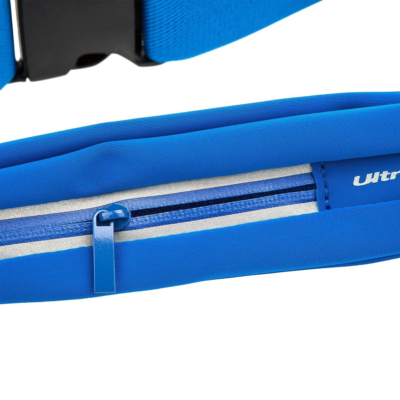Ultrasport Sportgürteltasche Bauchtasche 77 bis 100 cm Joggin Running Bag gelb Hüfttaschen Camping & Outdoor