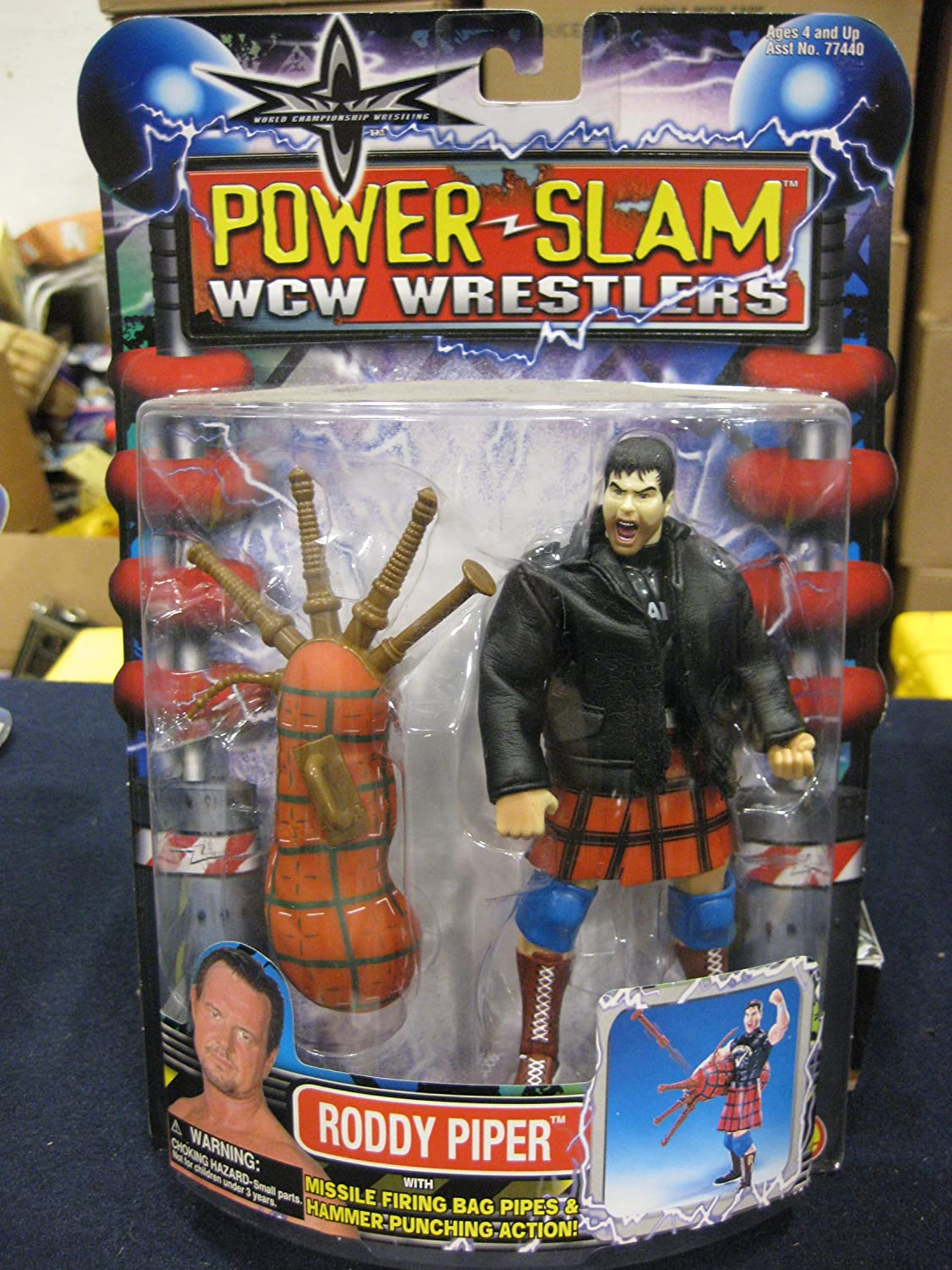 WCW Power Slam Wrestlers Roddy Piper distributed by Toy Biz 2000