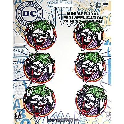 """C&D Visionary P-DC-0132-S Patch DC Comics, 2"""", Joker Face Set 6pcs: Toys & Games"""
