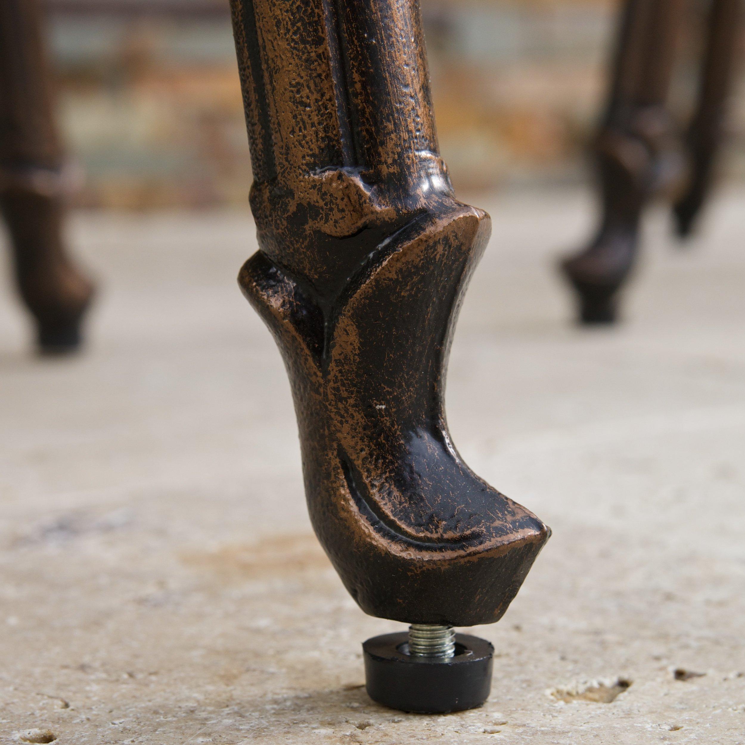 Christopher Knight Home Pomelo Outdoor Cast Aluminum Barstool