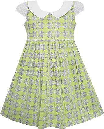 Sunny Fashion Vestido para niña Corbata de moño Cisne Impresión ...