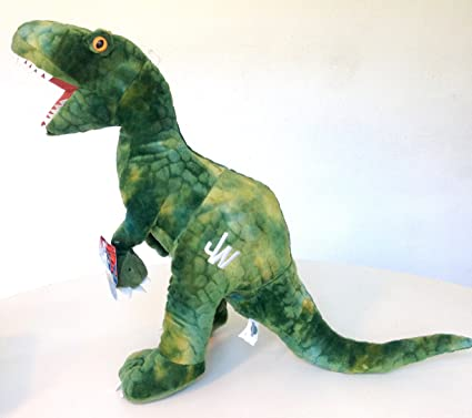 "Universal Studios Jurassic World Park 20"" Inch Green Raptor Dinosaur Plush Stuffed Animal"