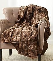 Pinzon Faux Fur Throw Blanket 63