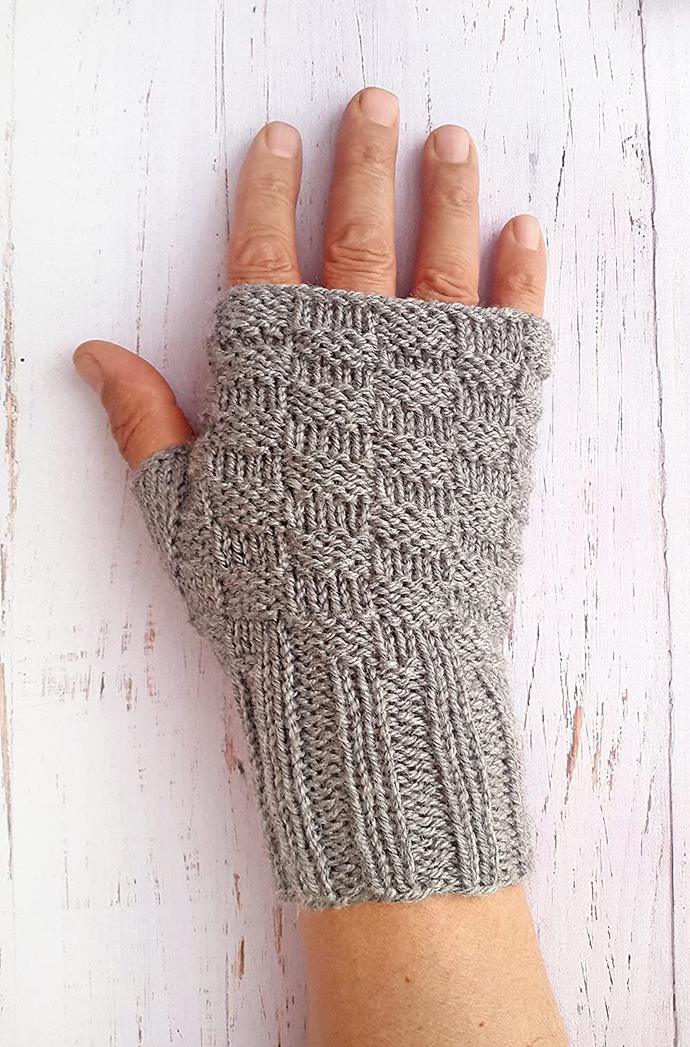 Men's knit gloves - Fingerless gloves men Men's knit gloves Men's gloves Gift for him