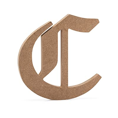 "6"" Old English Wooden Letter C - JoePaul's Crafts Premium MDF Wood Wall Letters (6 inch, C): Baby"