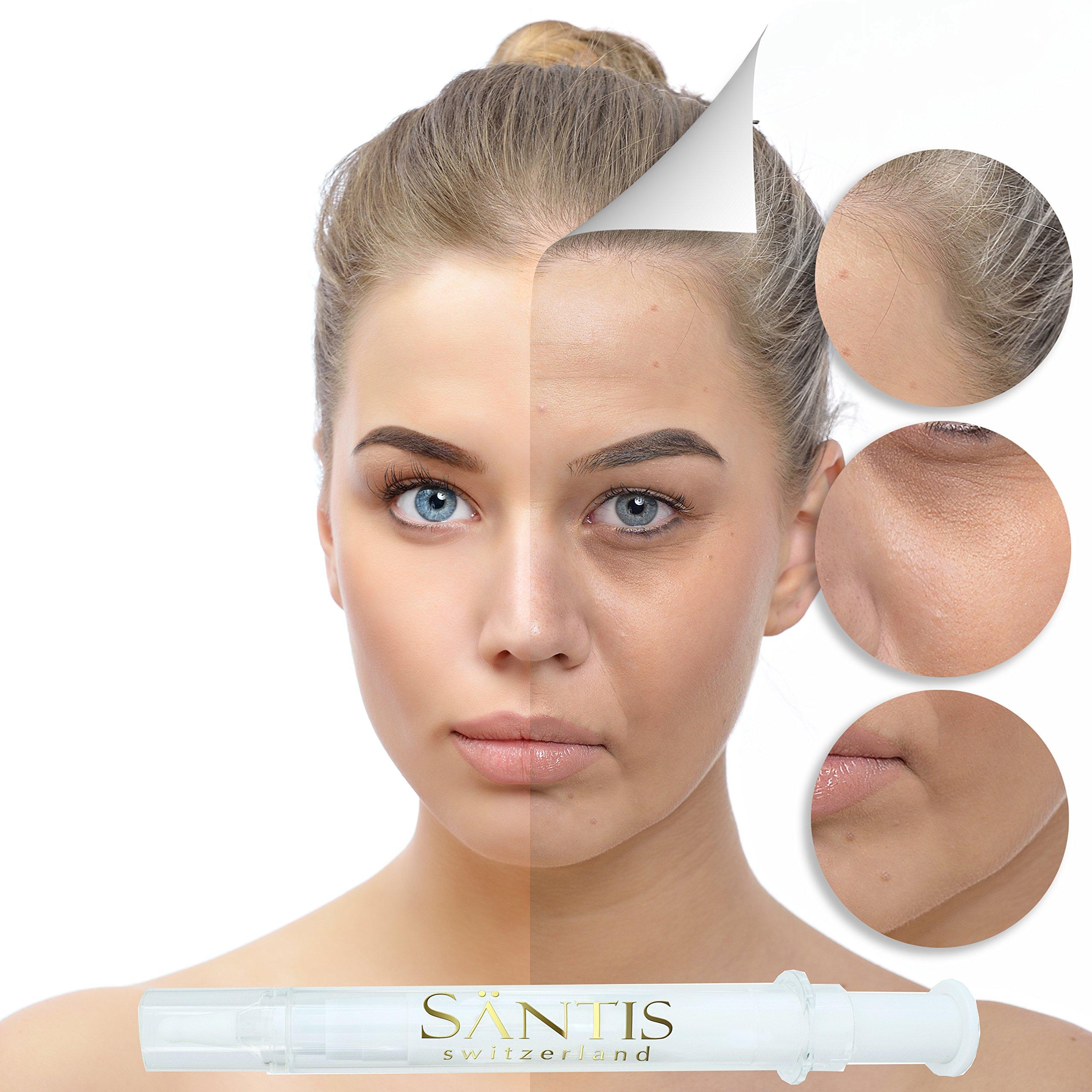 Santis Botox Alternative Anti Wrinkle Filler Kit Contain Cellular Serum & Filling Cream Tightens Skin Instantly & Painlessly - Eliminates Age Spots, Dark Circles, Smoothens Fine Lines by SANTIS SWITZERLAND (Image #3)