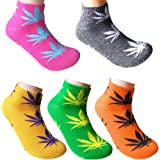 5 Pairs Unisex Marijuana Weed Leaf Boat Warm Cotton Socks US 5-9.5