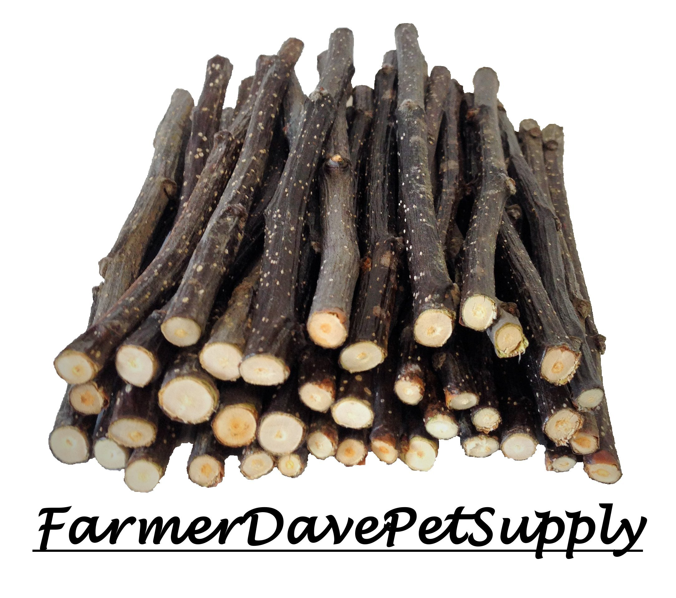 FarmerDavePetSupply 40 Apple Thin CHEW Sticks for Small Animals