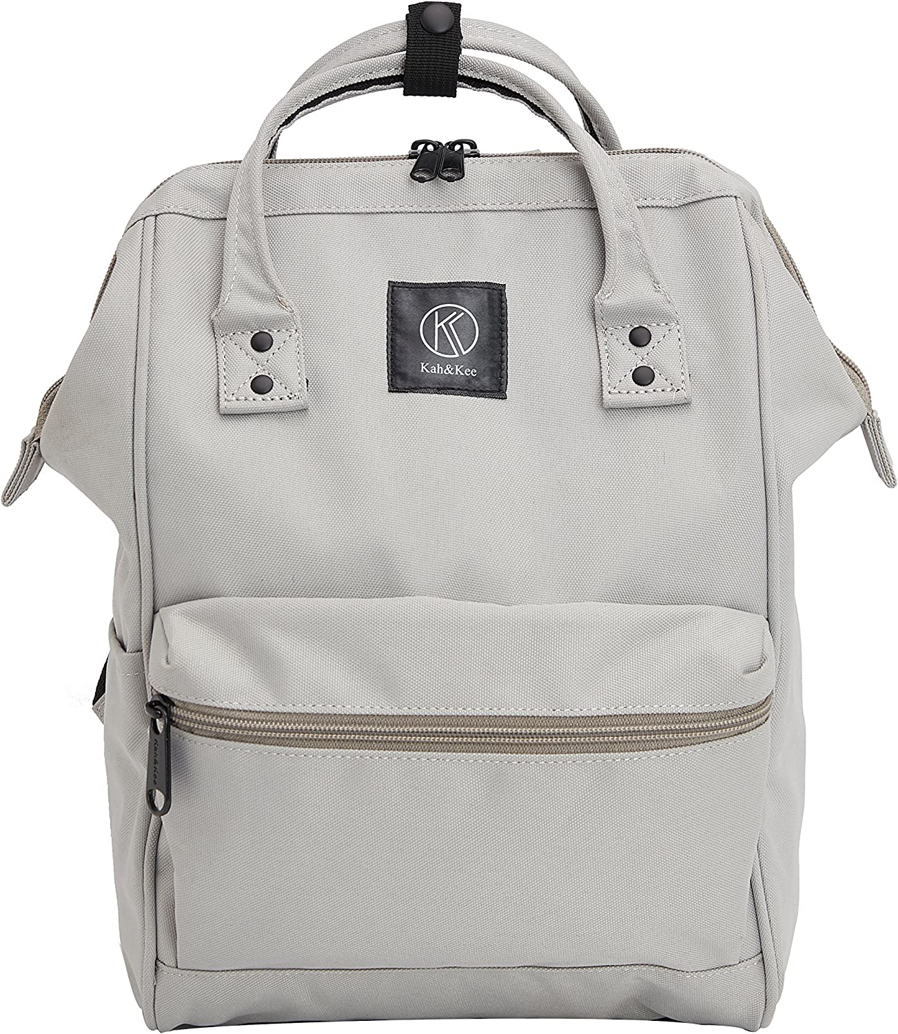 Kah&Kee Polyester Travel Backpack Functional Anti-theft School Laptop for Women Men (Light Gray, Small)