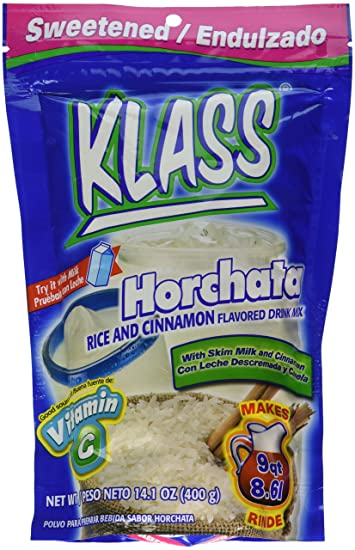 Klass Horchata, Rice and Cinnamon Drink Mix, 14.1 Oz, (Pack of 2