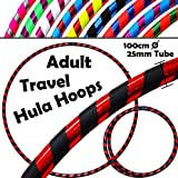 PRO Hula Hoops (Ultra-Grip/Glitter Deco) Weighted TRAVEL Hula Hoop (100cm/39') Hula Hoops For Exercise, Dance & Fitness! (640g) NO Instructions Needed - Same Day Dispatch.!
