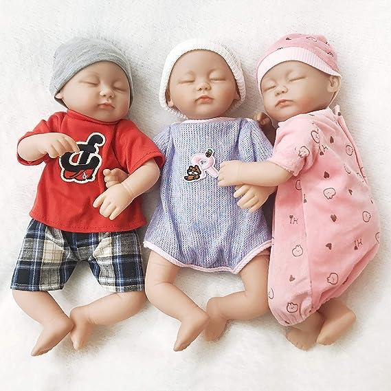 Amazon.es: Ánimo Muñeco bebé con 3 Ropas de Moda, Muñeco Vestido con Silicona movible mienbros y Cabeza, Regalo para Niños más Que 3 años.: Juguetes y juegos