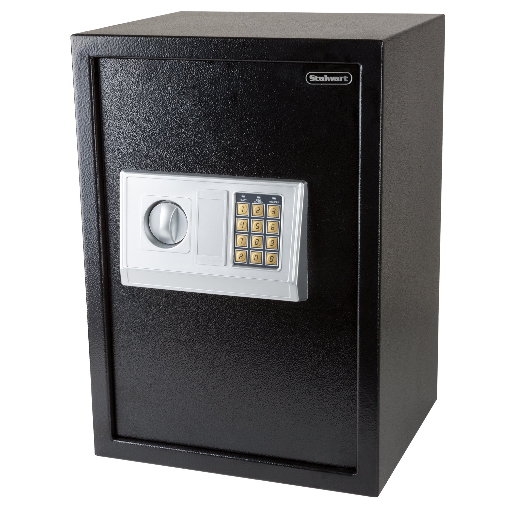 Stalwart Digital Safe-Electronic, Extra-Large, Steel, Keypad, 2 Manual Override Keys-Protect Money, Jewelry, Passports-for Home or Business by Stalwart