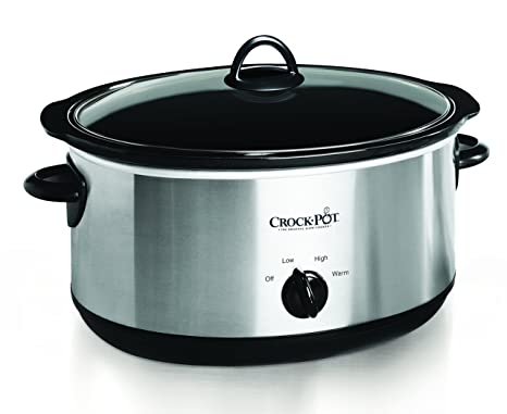 Amazon Crock Pot Oval Manual Slow Cooker 8 Quart Stainless Steel SCV800 S Kitchen Dining