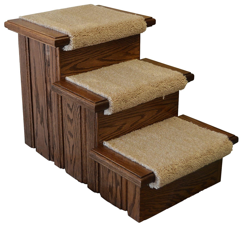 Premier Pet Steps Carpeted Tread Dog Steps, 17-Inch
