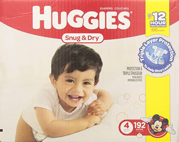 Huggies Snug And Dry Diapers Step 4 Economy Plus 192 Count