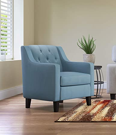 Tremendous Serta Uph10057C Nina Accent Chair Blue Andrewgaddart Wooden Chair Designs For Living Room Andrewgaddartcom