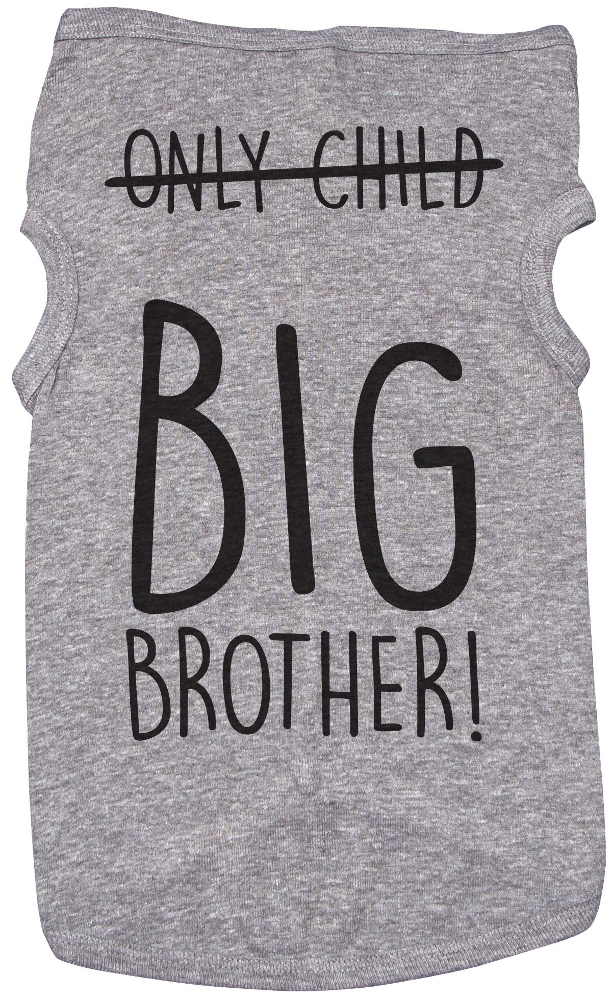 Big Bro Shirt for Dogs/ONLY Child, Big Brother/Grey Puppy Tee (2XL) by Baffle