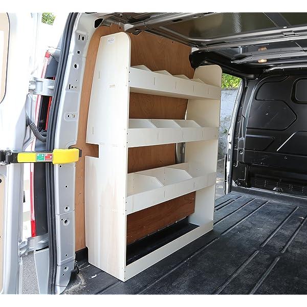 Van Accessories Ford Transit Custom Van Rack System And Van Cargo Rack Vanify Ford Transit Custom LWB OS and NS Rear Lightweight Van Shelving Plywood Rack Storage Shelving Units And Storage