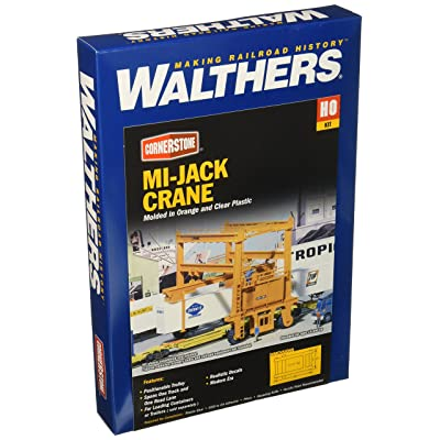 Walthers Cornerstone HO Scale Model Mi-Jack Translift Intermodal Crane: Toys & Games