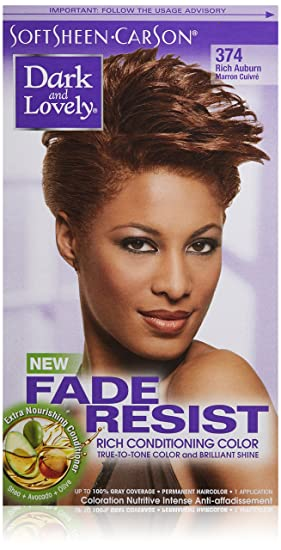 amazoncom softsheen carson dark and lovely fade resist rich conditioning color rich auburn 374 chemical hair dyes beauty - Dark And Lovely Coloration
