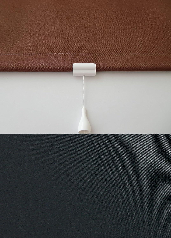 Verdunkelungsrollo Springrollo Mittelzugrollo Schnapprollo Rollo Schwarz schwarz Breite 60-200 cm Länge 180 cm Sonnenschutz Sichtschutz verdunkelnd (180 x 180 cm)