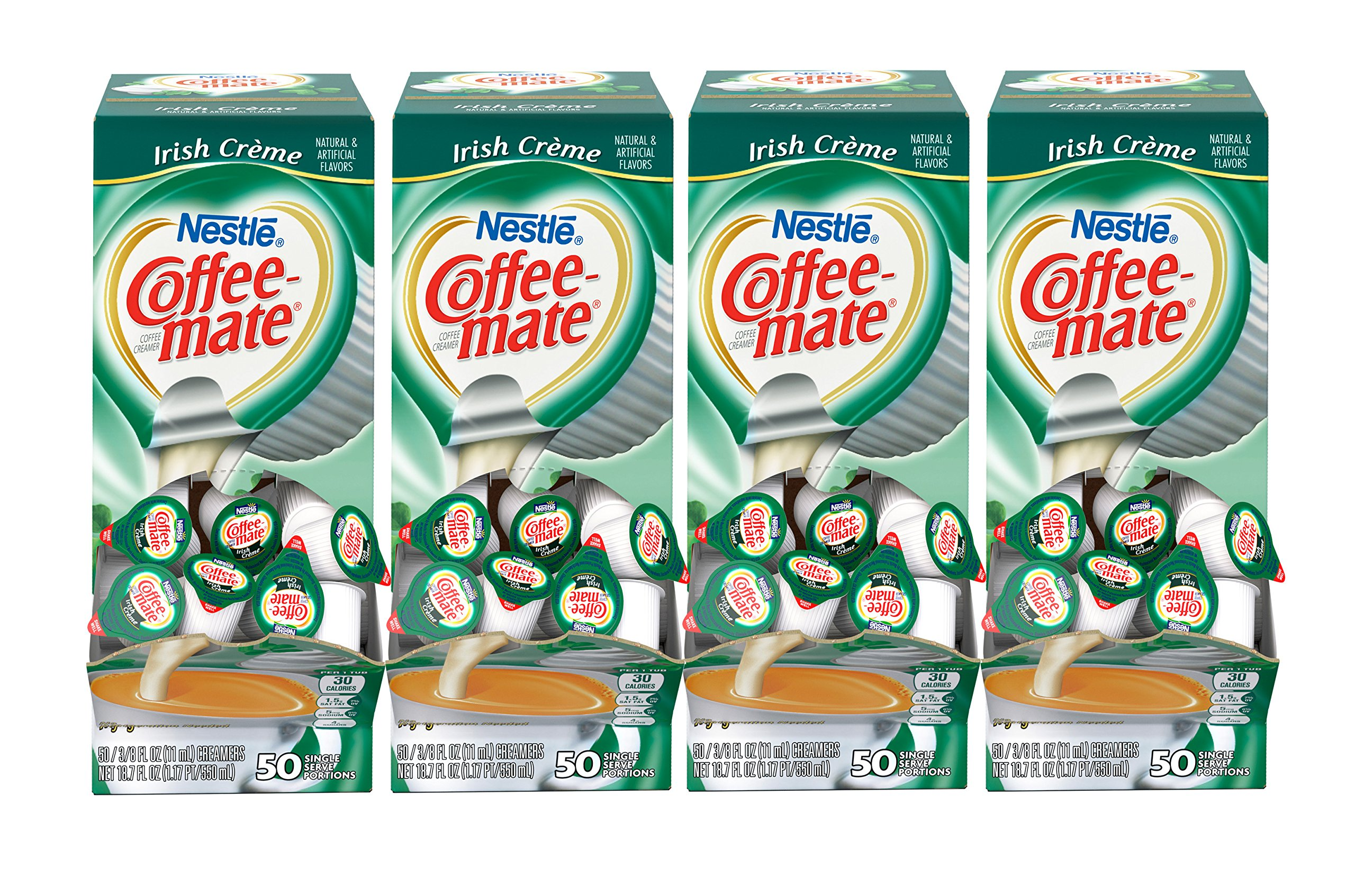 NESTLE COFFEE-MATE Coffee Creamer, Irish Creme, liquid creamer singles, 50 Count (Pack of 4) by Nestle Coffee Mate
