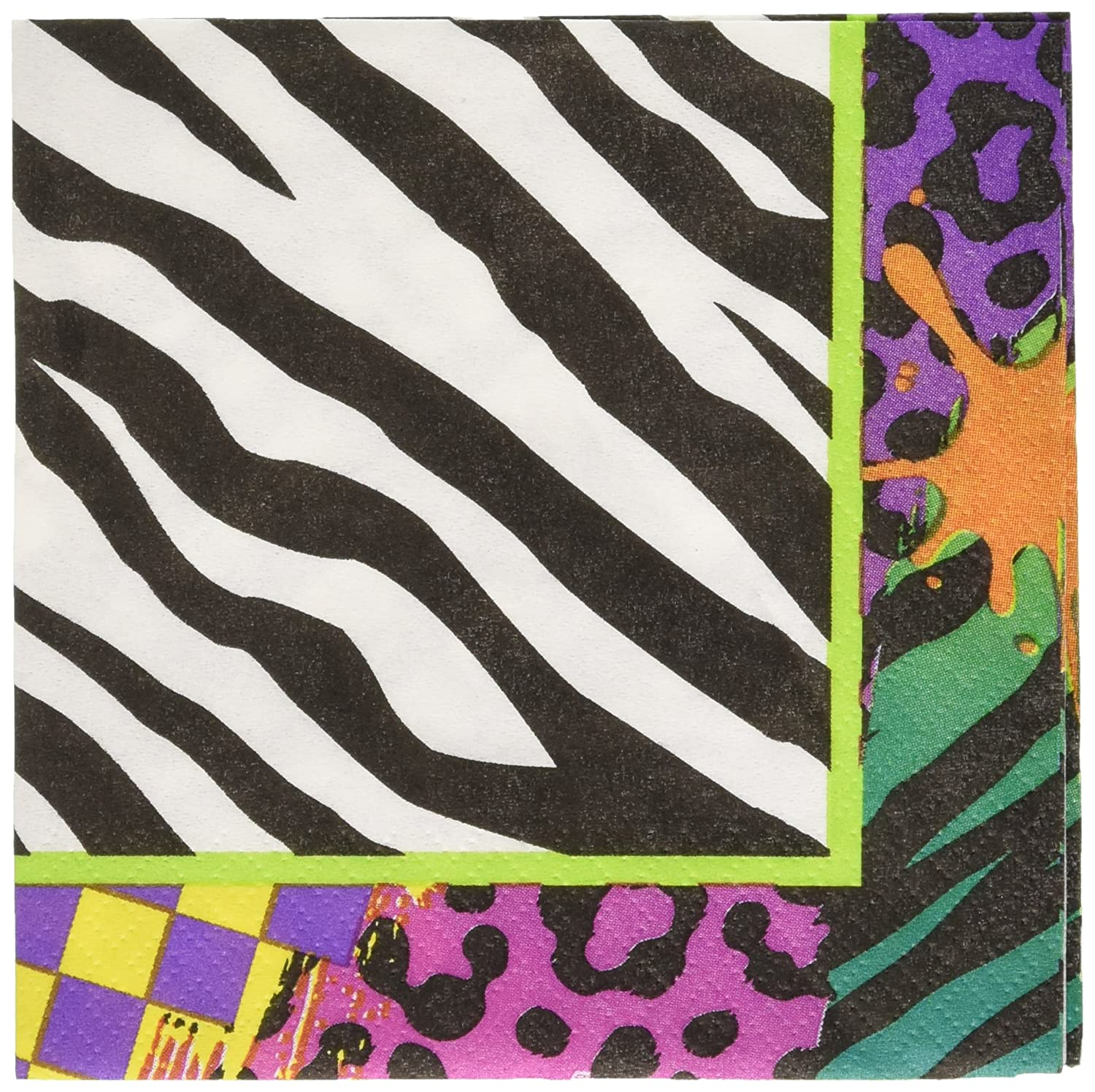 80s Party Beverage Napkins 192 Ct Amscan 501223