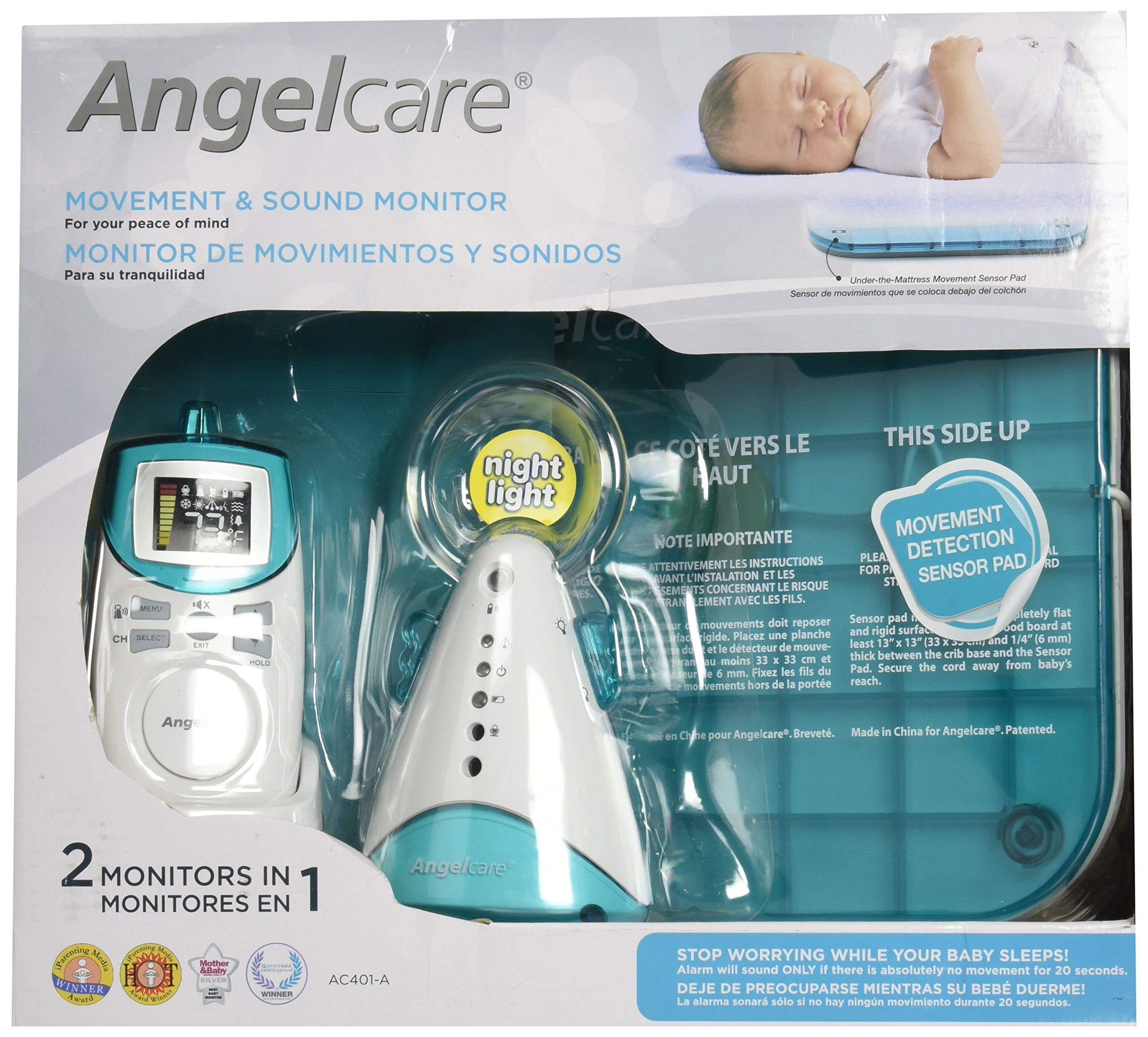 Angelcare Movement and Sound Monitor, Aqua/White by Angelcare (Image #3)