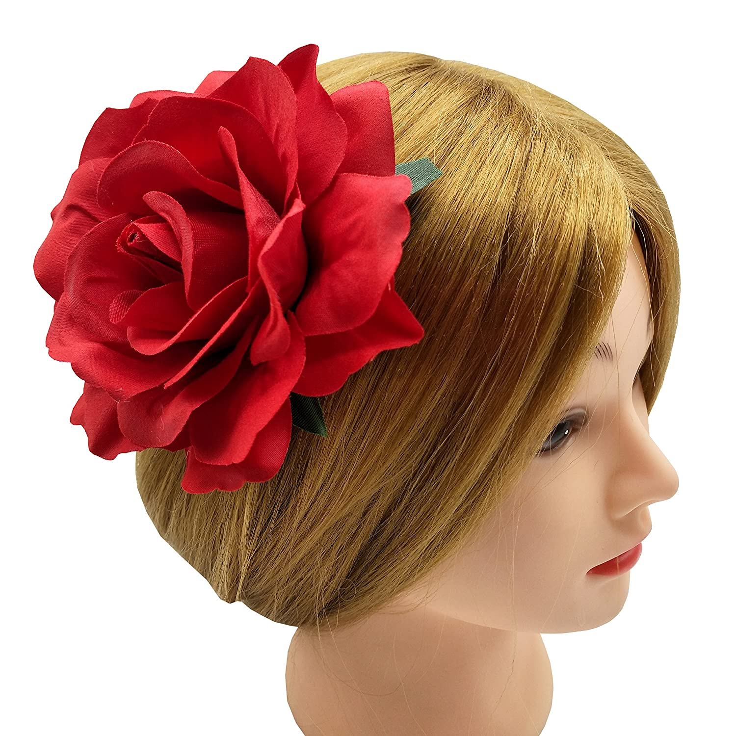 1940s Hairstyles- History of Women's Hairstyles La Homein Sanrich 4pcs/Pack Fabric Rose Hair Flowers Clips Hairpin Brooch Hair Accessory Wedding Party Headpieces $6.99 AT vintagedancer.com